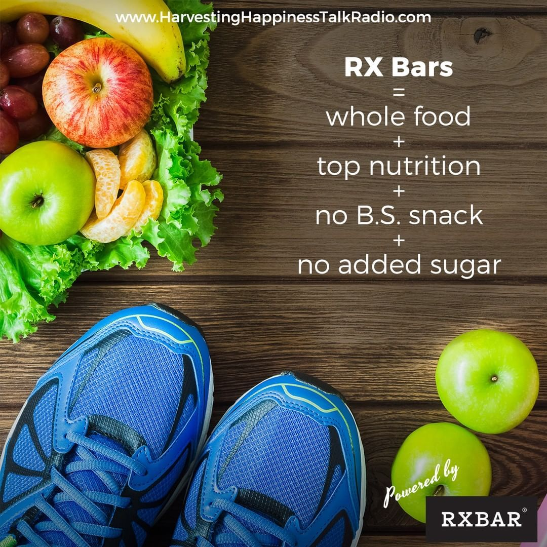 Ad Happiness is real nutrition and @rxbar whole food protein bars