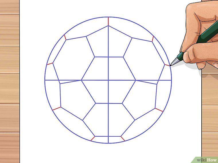 dibujar una pelota de futbol | Cumple | Pinterest | Dibujar, Forma ...