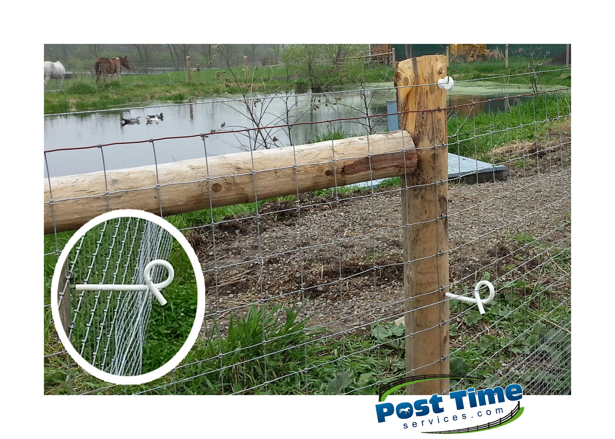 This Farm Fence 4x4 Around Pond Has Added Welded Wire On