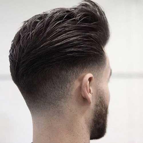 Vue Arriere De Cheveux Courts Pour Les Hommes Cool Hair Designs Fade Haircut Hair Styles