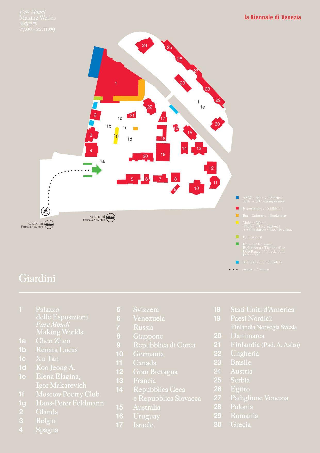 Resultado De Imagen Para Biennale Di Venezia Map EXPO Pavilion - Venice biennale 2016 map