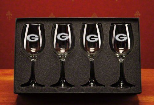 Georgia Bulldogs 12 oz Deep Etched White Wine Glasses Box Set of 4 by Campus Crystal. $94.99. Quench your thirst for all things Georgia Bulldogs with these Georgia Bulldogs 12 oz. White Wine Glasses Box Set of 4. Made by Campus Crystal, these glasses feature vibrant deep etched graphics and is dishwasher safe. Make sure your cupboard is stockpiled with this piece of Bulldogs team gear. Set of Four 12 oz. White Wine Glasses Makes a great gift Dishwasher safe Officially l...