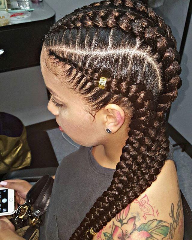 4 big braids #braids #braiddesign