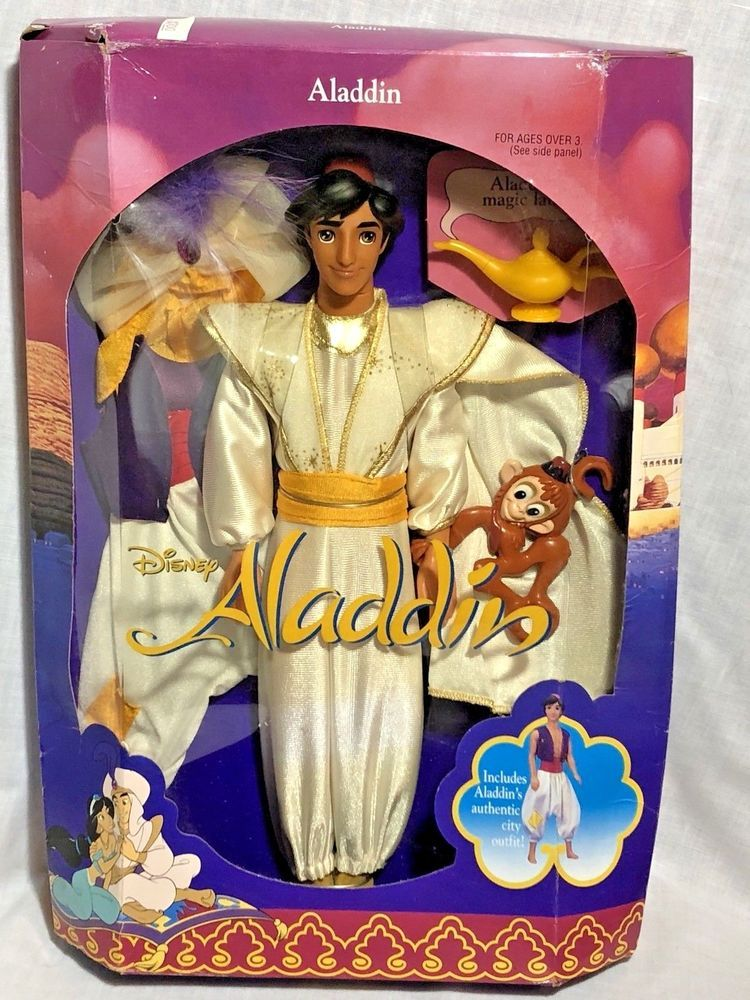 Aladdin Disney Classic /& Authentic Aladdin Figure Poseable Toy Doll 12/""