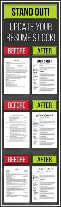 STAND OUT with resume template, resume templates word, cv template - picture templates for word
