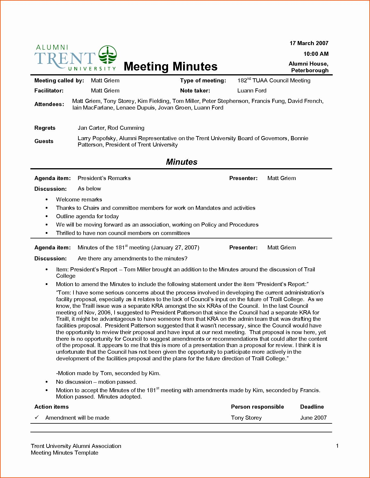 Minute Of the Meeting format Beautiful 7 Meeting Minutes