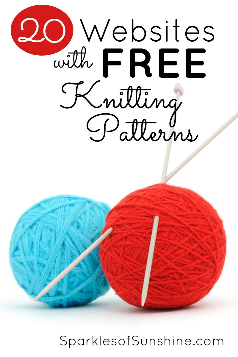 20 Websites With Free Knitting Patterns | Tejido, Dos agujas y Puntos