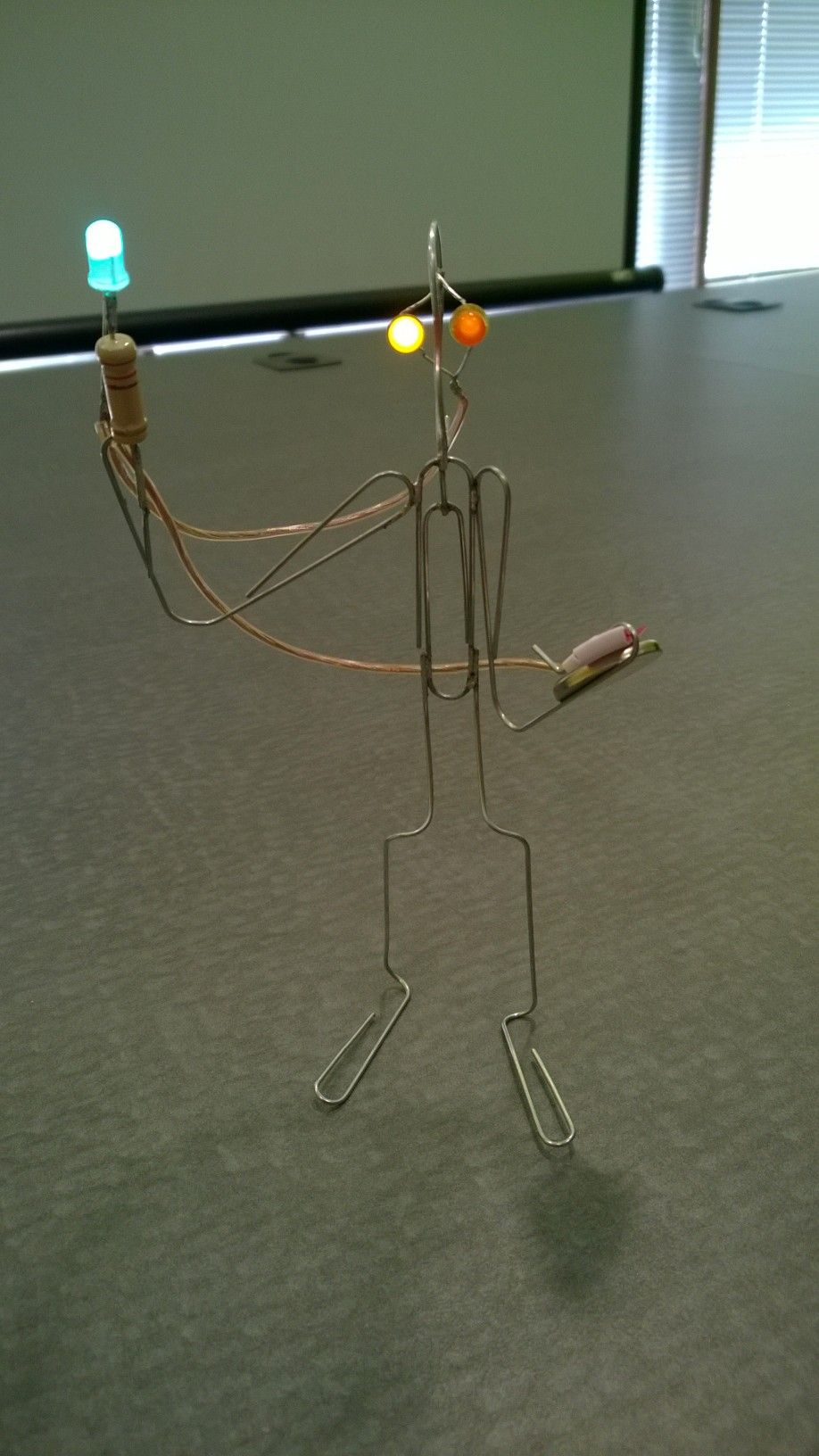 Paper Clip Led Sculpture Fun Practice