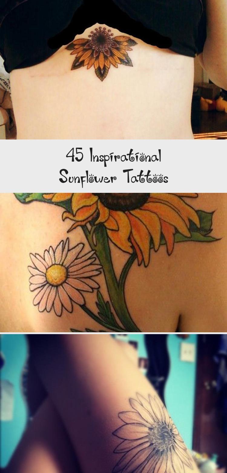 Photo of sunflower tattoo – 45 Inspirational Sunflower Tattoos #sunflowertattoosBlackAndW…