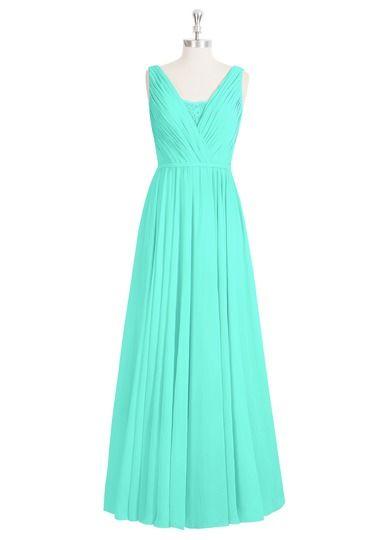AZAZIE ELLEN. Ellen is a floor-length bridesmaid dress with an A-line cut in…