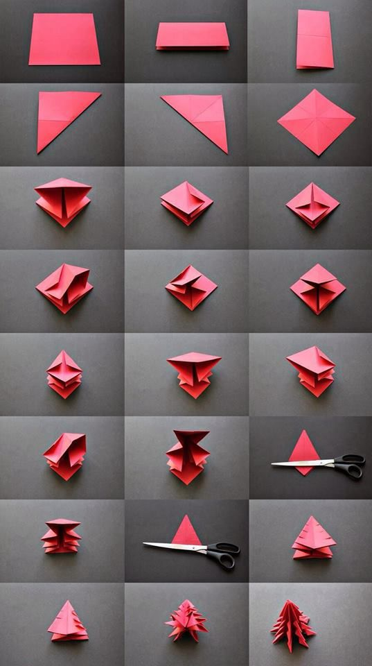 Christmas Tree Origami Sapin De Noel Petit Sapin De Noel