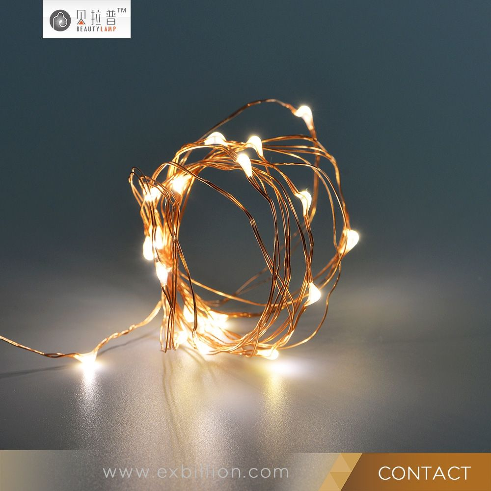 2017 New Design Love And Star Copper Wire 20L 2M Battery OperatedLED Light  Decorative Light