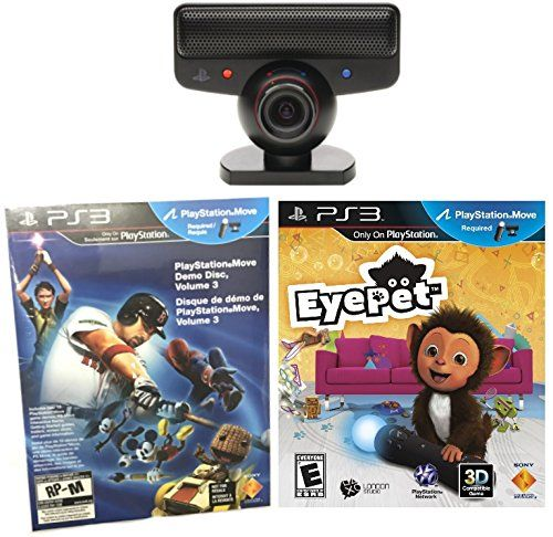Sony PlayStation 3 Eye Camera  EyePet Game  PS3 Sampler 15 Games Bulk Packaging BUNDLE * More info could be found at the image url. Note:It is Affiliate Link to Amazon.