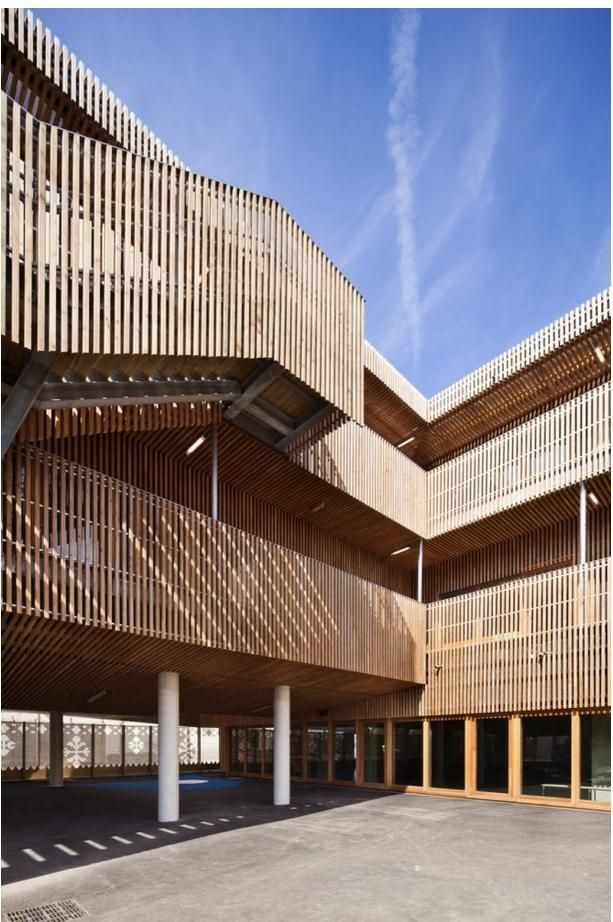 wood screening UF Pinterest Facades