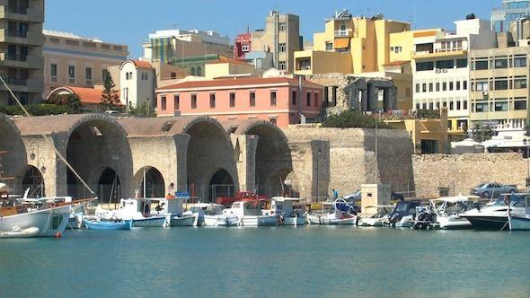 Sea Port, Heraklion, Crete   #videohive