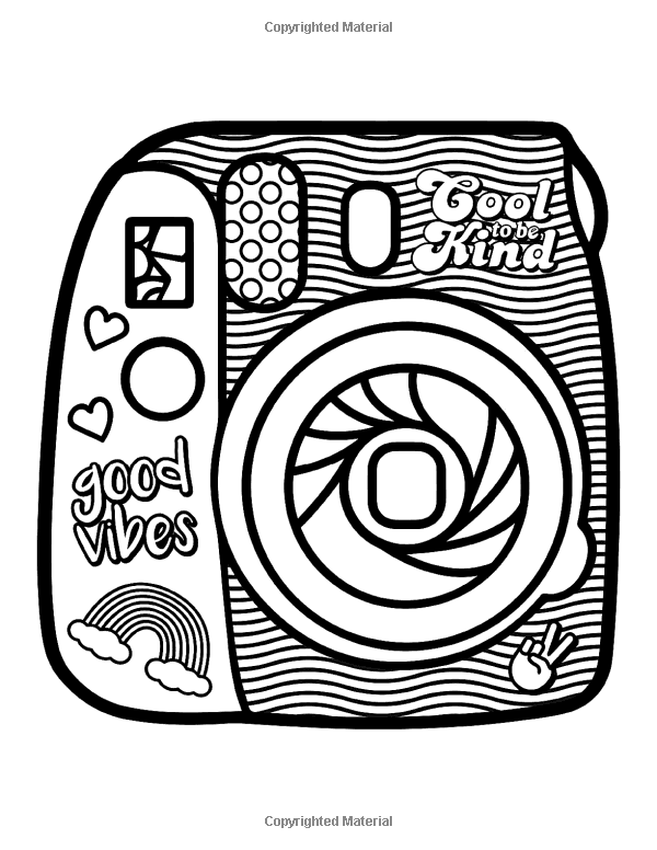 Hand Drawn Vsco Girl Coloring Page Etsy In 2021 Coloring Pages For Girls Fairy Coloring Pages Cute Coloring Pages