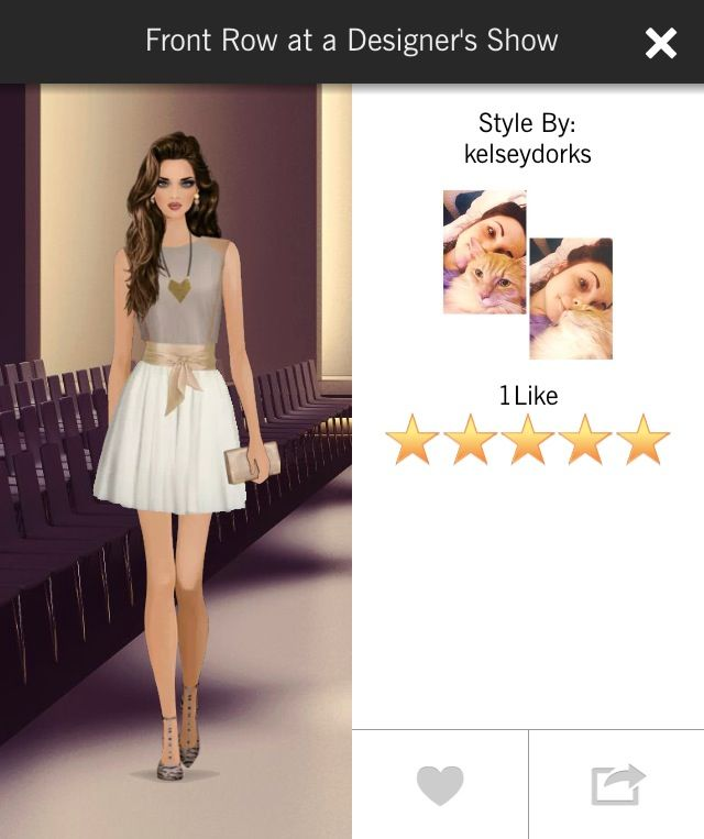 Covet 5 Stars Front Row At A Designer Fashion Show Covetfashion Fashion Covet Fashion Covet Fashion Games