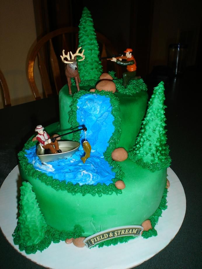 The Hunting Fishing Grooms Cake With Images Hunting Cake