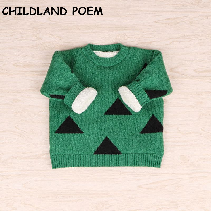 Awesome 2017 winter baby sweater baby girls sweater thick fleece ...