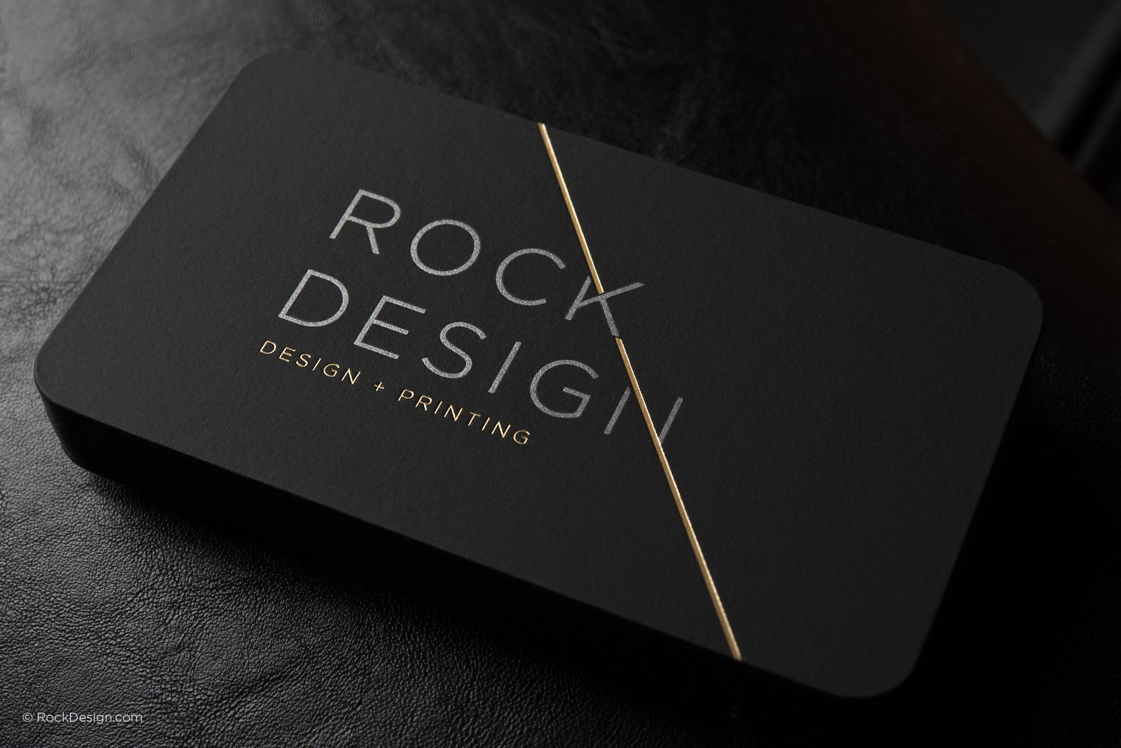 Luxury modern black suede business card with metallic ink and gold ...