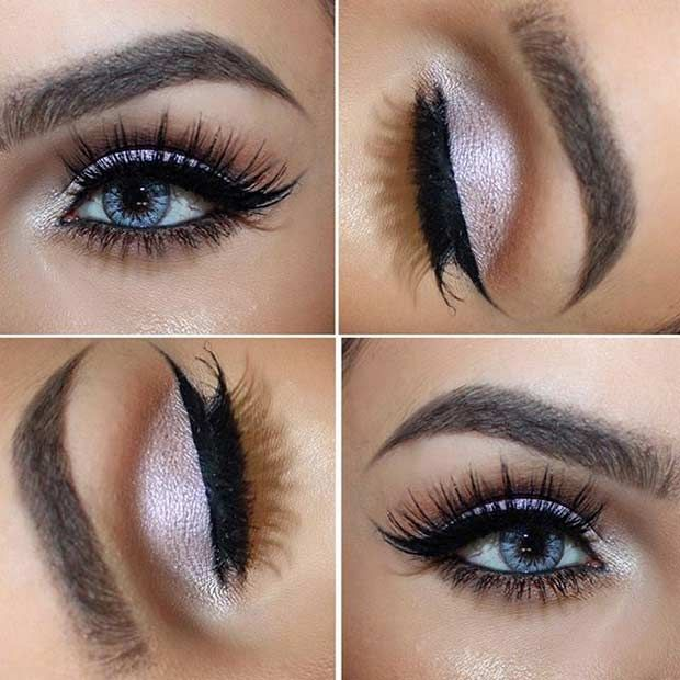 5 Ways To Make Blue Eyes Pop With Proper Eye Makeup Her Style Code Prom Eye Makeup Lovely Eye Makeup Rock Makeup