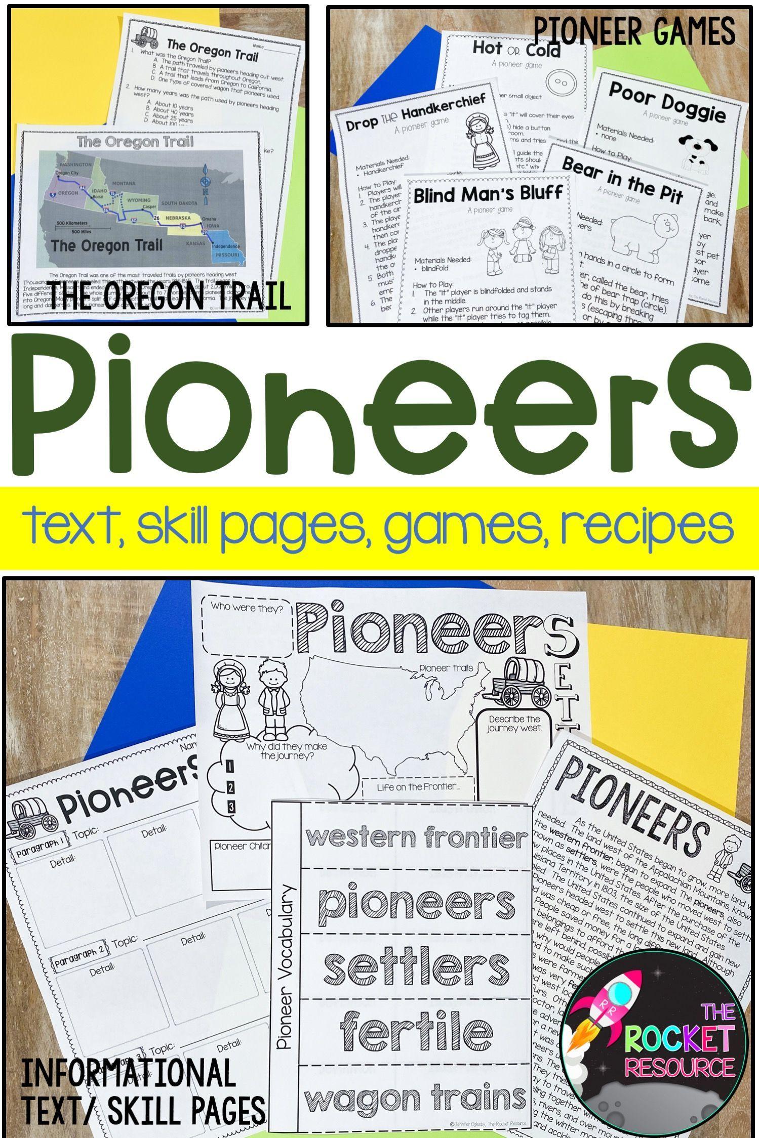 Pioneer Activities For The Classroom Pioneer Activities Math Skills Practice Social Studies Classroom [ 2249 x 1499 Pixel ]