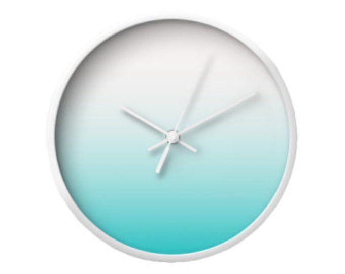 Blaugrün gradient Wanduhr Housewarming Geschenk Uhr Teal Teal - wanduhr für küche