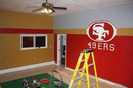 Agape Love Designs 49ers Game Room 49ers Bedroom Ideas 49ers Room Game Room