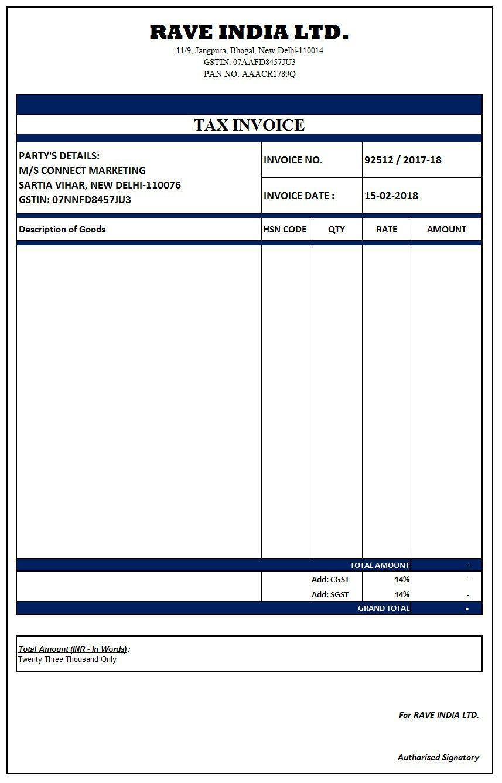 Xls Pdf Download Gst Xls Gst Pdf Gst In Excel Gst In Pdf Invoice Format In Excel Invoice Format Invoice Template Word