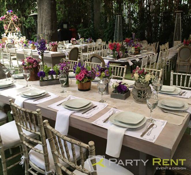 Renta alquiler mesas y sillas vintage df decoracion pinterest - Alquiler de mesas y sillas para eventos precios ...