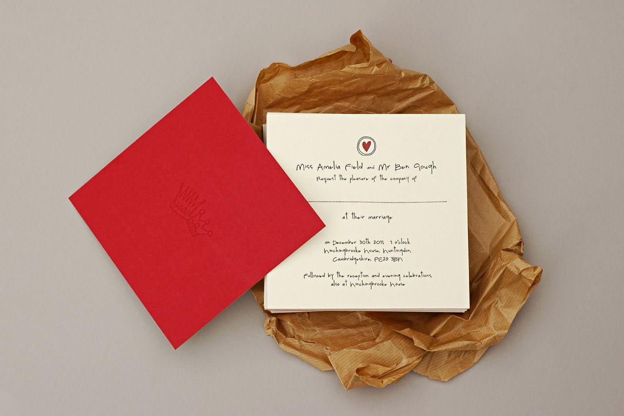 Ben and Amelia - Letterpress Wedding Invites | Invite | Pinterest ...
