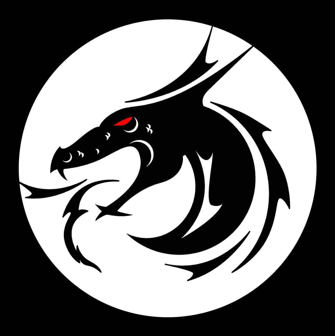 Risultati immagini per dragon symbol Black dragon, Sword