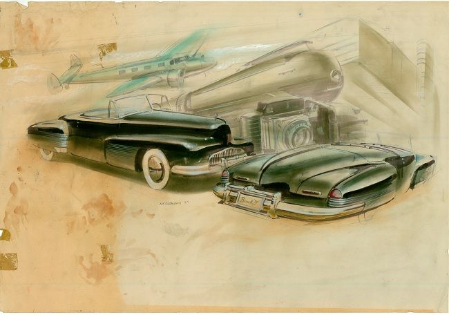 buick y job original sketch car design history concept cars rh pinterest com