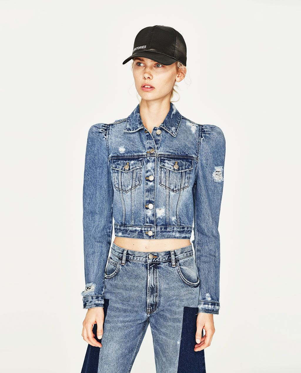 ecfc2f795d7 Image 2 of DENIM JACKET WITH PUFF SLEEVES from Zara