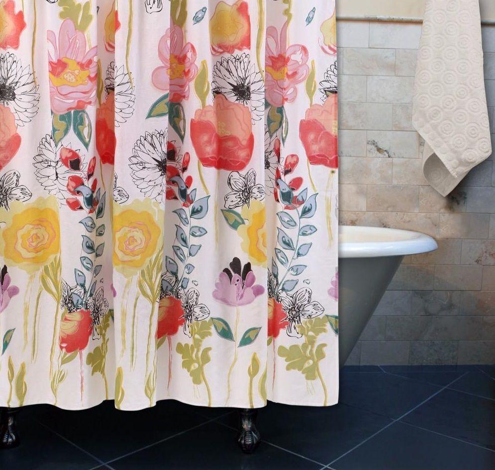 Watercolor Dream Bath Shower Curtain Greenland Home Fashions