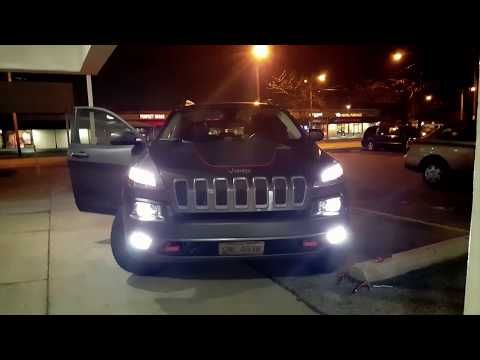 Halogen Lighting Upgrade 2015 Jeep Cherokee Trialhawk Youtube