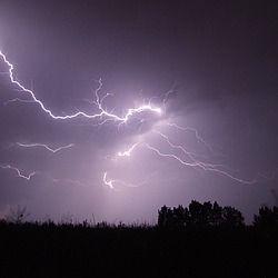 relámpago, tormenta, noche, firebird
