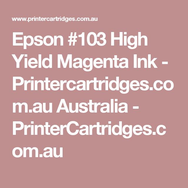 Epson #103 High Yield Magenta Ink - Printercartridges.com.au Australia  - PrinterCartridges.com.au