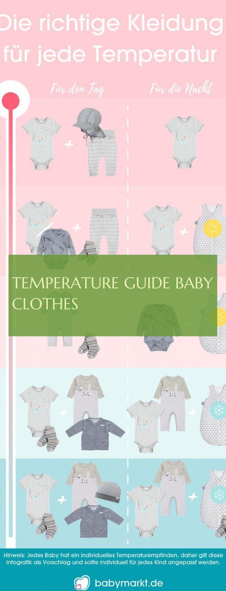 temperature guide baby clothes ; temperaturführer