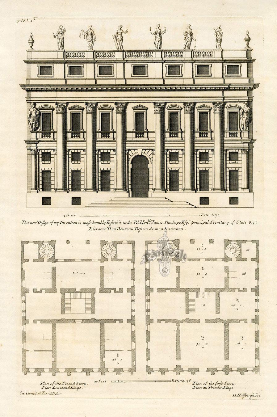 Elevation D Un Plan Archi : Elevation d un nouveau design de mon invention vitruvius