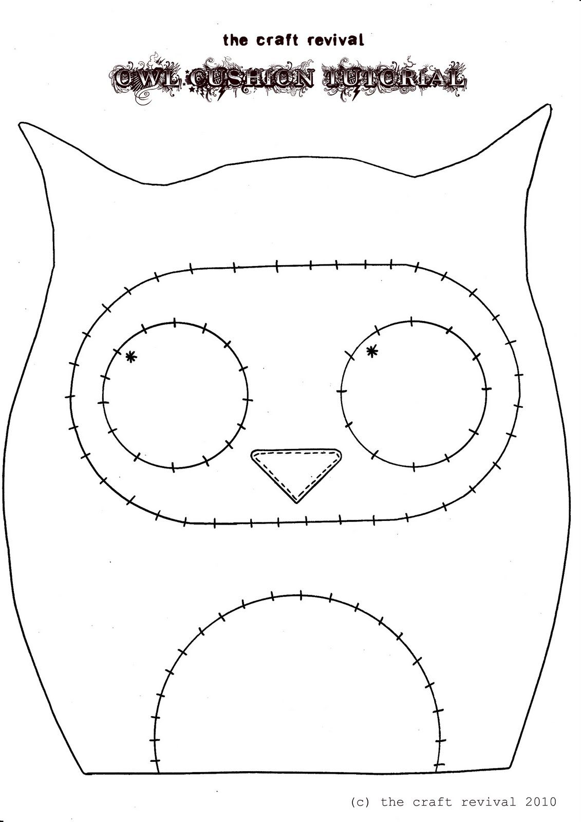 owl pincushion template you could use this to make a felt hair