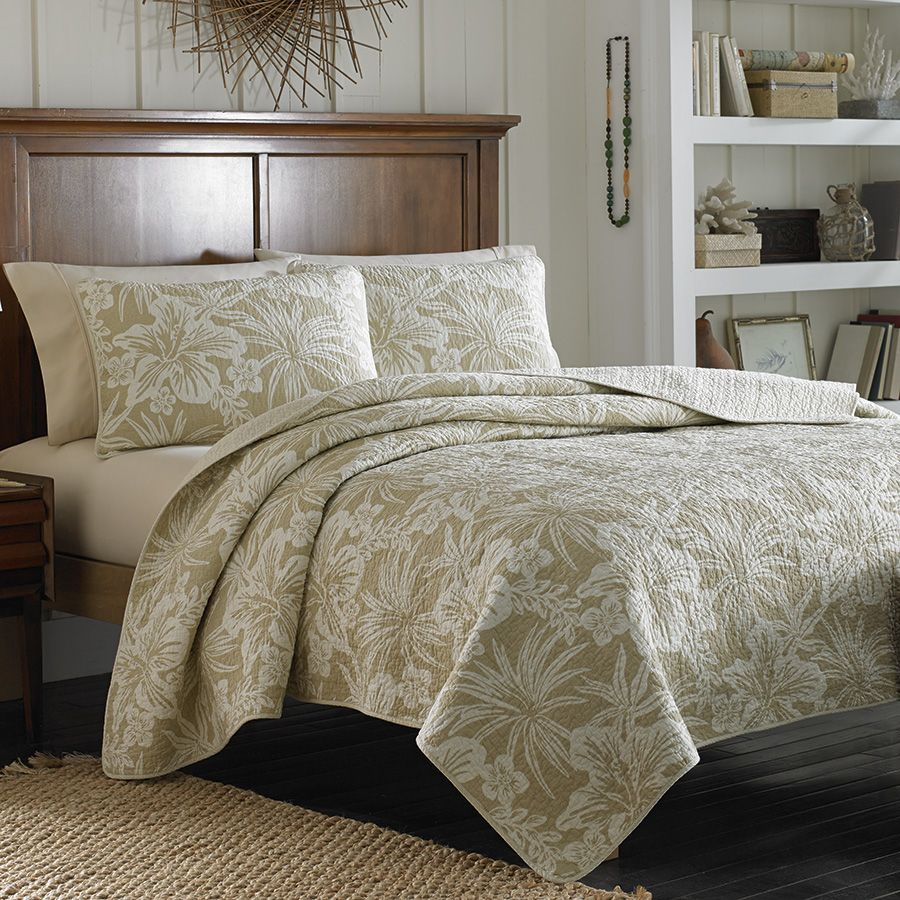 ... Comforter Set King Plan. Tommy Bahama Hanalie Hibiscus Neutral Quilt