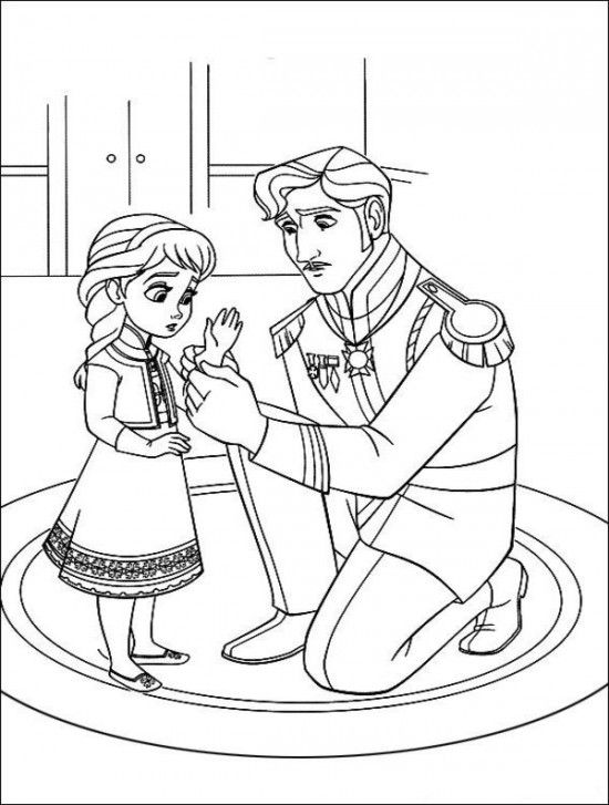 Frozen movie free printable coloring pages Elsa Anna