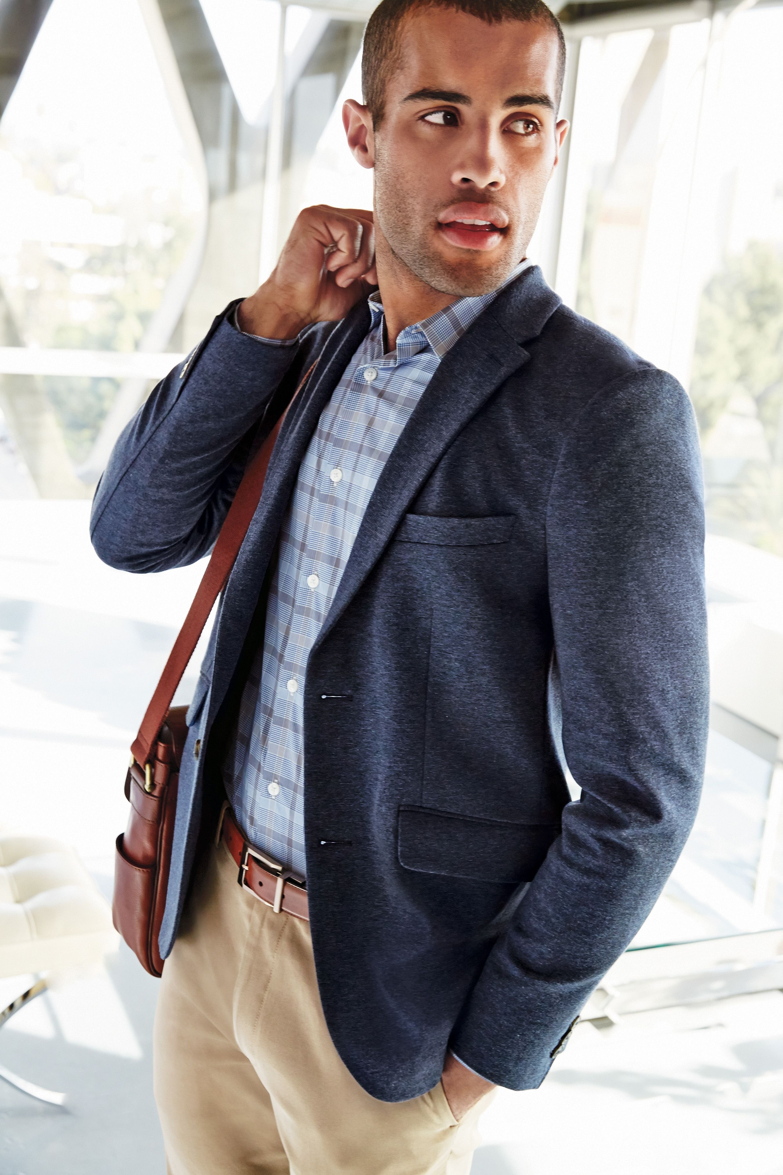 Perry Ellis Knit Sport Jacket, Woven Shirt, and Pant