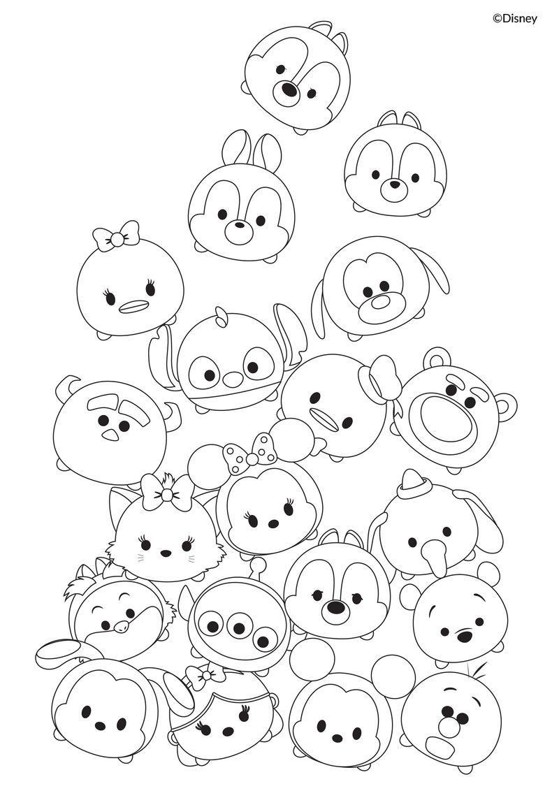 Cute Tsum Tsum Coloring Pages Tsum Tsum Coloring Pages Disney Coloring Pages Cartoon Coloring Pages
