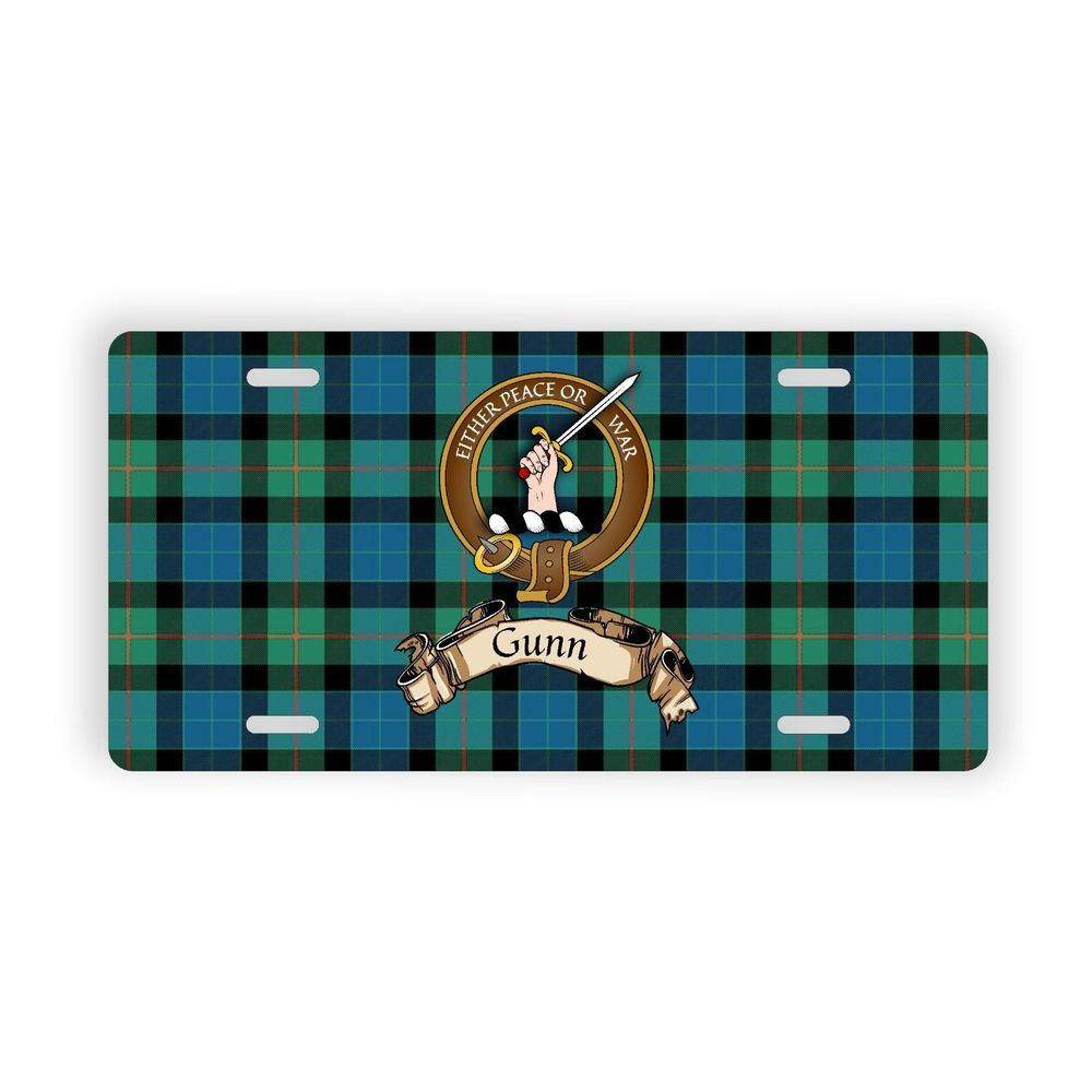 Find License Plate Number By Name >> Details About Gunn Scottish Clan Tartan Novelty Auto Plate