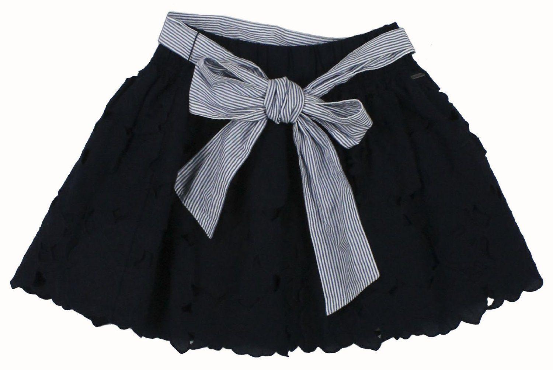 5aa012f85 Striped Navy Blue skirt abercrombie & Fitch Womens Adriana Striped Navy Blue  skirt Floral Lace Mini Skirt