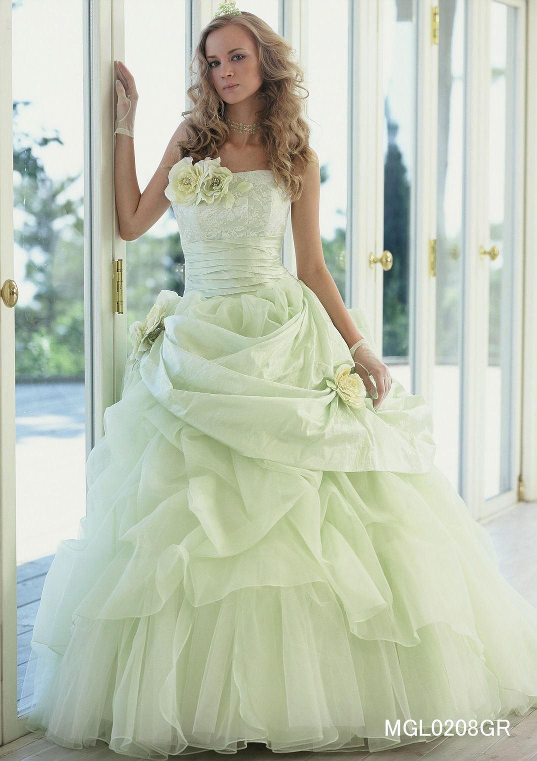 lime pastel green dress w bolero formal dinner