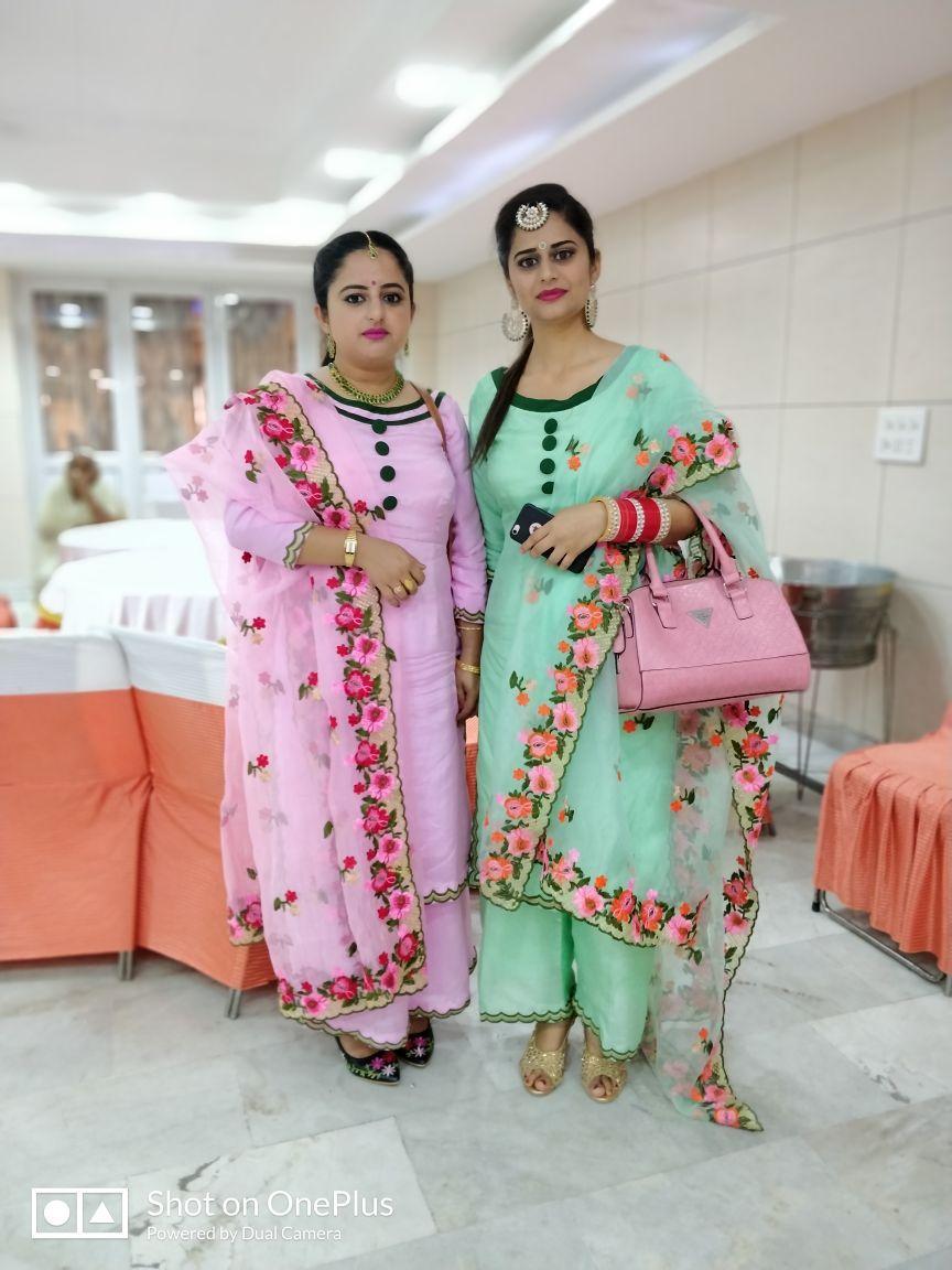 Ihram Kids For Sale Dubai: Organza Dupattas With Embroidered Sharara Suit