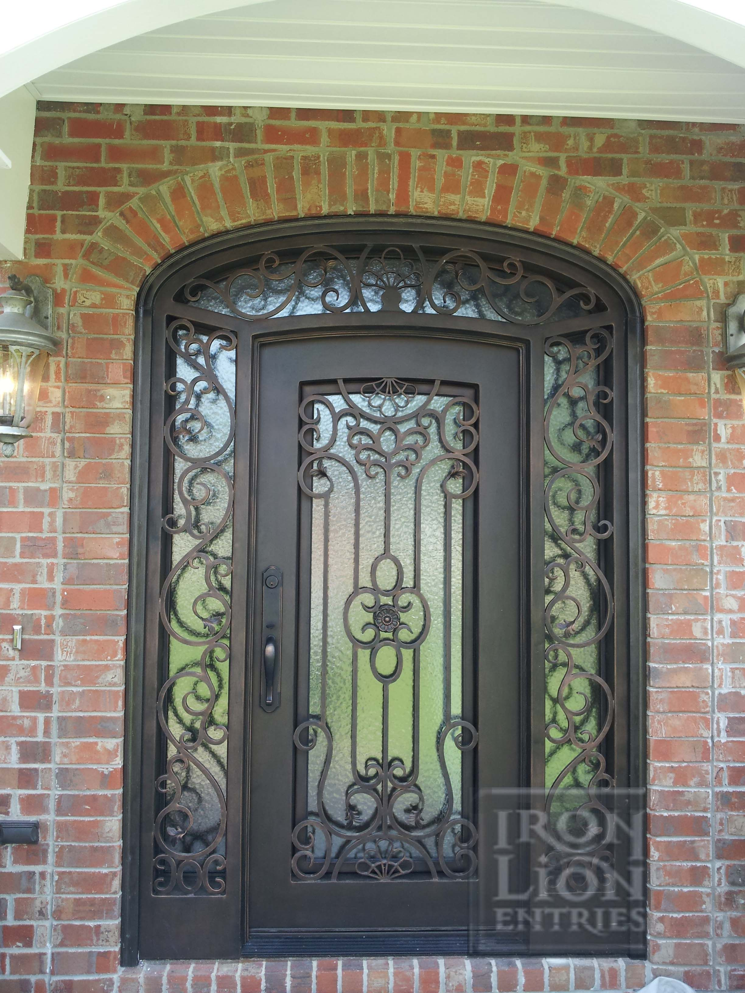 Beau Wrought Iron Entry Door, IronEntryDoor, Iron Door. Custom Single Door With  Sidelights